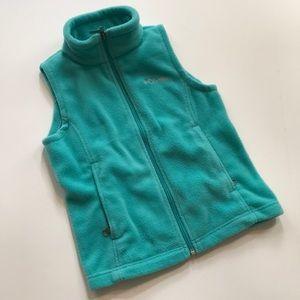 Columbia fleece vest size small (7-8)
